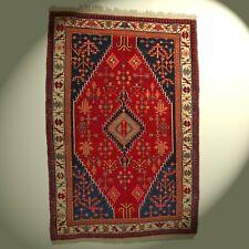 Semi-Antik Véritable Orient-Teppich Noué à la Main Laine 215x145 cm Rouge Rarité