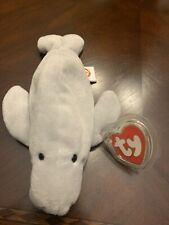 Ty Beanie Baby - Manny the Manatee - 3rd Gen Hang Tag / 2nd Gen Tush. Rare