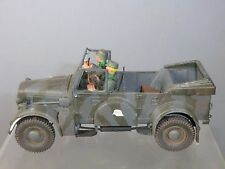 """SUPERB DETAIL """"BUILT KIT MODEL GERMAN ARMY """"Horch Kfz.15 """" STAFF CAR"""" & SOLDIERS"""