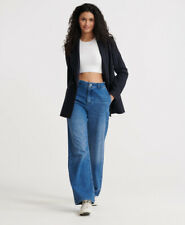 Superdry Womens Tailored Wide Leg Jeans