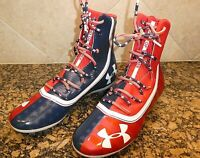 "UNDER ARMOUR HIGHLIGHT USA ""LAND OF THE FREE"" FOOTBALL CLEATS SZ 10.5 M"
