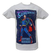 DC Comics Superman Kryptonite Men's White Large Shirt Short Sleeve Tee Justice