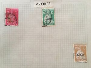 3 x AZORES STAMPS - Used