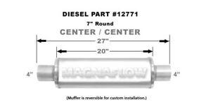 "Magnaflow Universal Performance Exhaust Muffler 12771 Straight Through 7"" Round"