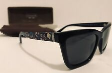 NEW $175 COACH SUNGLASSES HC8208 545787 BLUE BLACK ELECTRIC FLORAL DARK GRAY