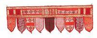 Indian Door Hanging Hand Embroidered Cotton Window Valance Vintage Toran Decor