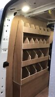 Assembled Ford Transit Custom Van Racking Ply Lining Storage Swb