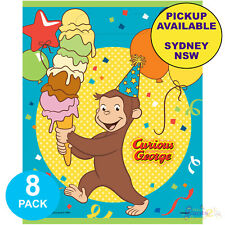 CURIOUS GEORGE BIRTHDAY PARTY SUPPLIES 8 LOOT BAGS LOLLY TREAT SACKS