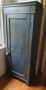 Antique Original French Country Style Painted Cabinet