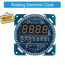 Rotating DIY DS1302 LED Electronic Digital Clock Kit  Learning Board 5V