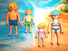 Playmobil,FUN AT THE BEACH,BLONDE HAIR FAMILY,Lot of 4 Figures,LOT # QV11