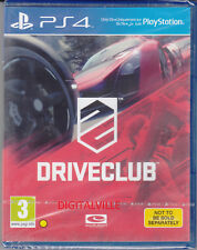Driveclub PS4 Sony PlayStation 4 Brand New Factory Sealed