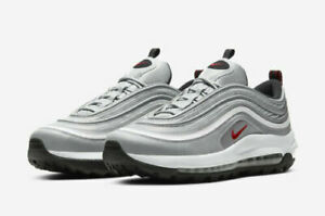 """NEW Nike Air Max 97 G Golf Shoes CI7538-001 Men's Size 10.5 """"Silver Bullet"""""""
