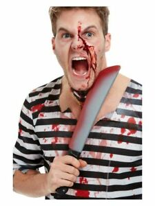 Blood Stained Sword Machete Fake Weapon Halloween Fancy Dress Accessory