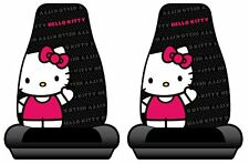 Hello Kitty Sanrio Waving Car Truck SUV Bucket Seat Covers - Pair NEW