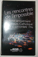 K7 VIDEO VHS 50e ANNIV. SECOURS CATHOLIQUE BERCY 8 SEPT. 1996