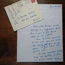 Jean d'Ormesson -  Lettre manuscrite de 1969 a la princesse Bibesco