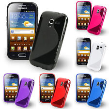 Funda Protectora Para Samsung Galaxy Ace 2 i8160 TPU Silicona con Tapa Estuche