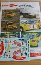 DÉCALS 1/43 réf 415 Peugeot 306 maxi Mermet Mont Blanc  Morzin 2001