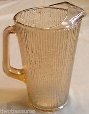 Vintage Jeannette Marigold Iridescent TREE BARK Pattern 64oz Beverage Pitcher