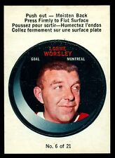 1968-69 OPC O PEE CHEE Puck Sticker Insert #6 LORNE GUMP WORSLY NM Canadiens