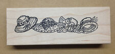 Wood Mounted Rubber Stamp, Hat Border, Hats, Womens Hats, Border Stamps, Borders