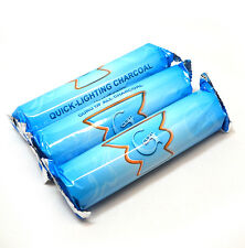Lot of 30 CHARCOAL COAL TABS / 3 ROLL Quick-Lite for HOOKAH 33mm