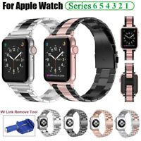 For Apple Watch SE iWatch Series 6 5 4 3 Stainless Steel Wrist Watch Band Strap