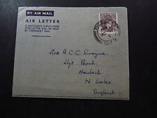 Cover Air Letter Air Mail Nigeria to North Wales United Kingdom 1965
