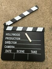 "1, Clapboard with chalk  8"" X 7"" med.  Film Reel Film Movie Party Prop 35mm 16mm"