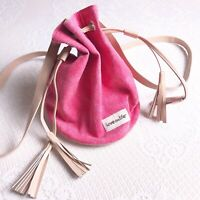 Love This Life Pink Canvas Drawstring Backpack Purse