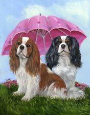 "Precious Pet Garden Flag Cavalier King Charles Royal Subjects 12"" x 18""~Charity!"