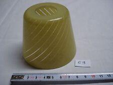 petite tulipe abat jour jaune trou de 28 mm1970 (réf E9)