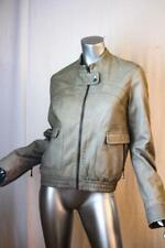 Womans TED BAKER Light Sage Leather Bomber Jacket Size 4 = US 10 NWOT