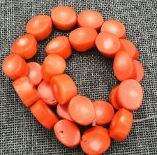 """New 13-17mm natural Orange Red Coral Freeform Loose Beads 15 /"""" AAA"""