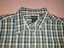 JF J Ferrar Mens Short Sleeve Plaid Button Down Front Shirt -