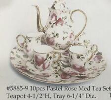 Mini Tea Set Pink Rose Ranger Int. Corp. doll house NIB old stock  LW 5885-9
