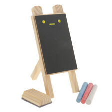 1 Set Wood Framed Erasable Chalkboard Sign Tabletop Easel Memo Message Board