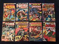 MARVEL HORROR Bronze lot of 8 comics: Werewolf by Night, Man-Thing, Mummy...
