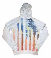 Urban Pipeline Men's Size XXLarge White American Flag Pullover Hoodie Sweatshirt