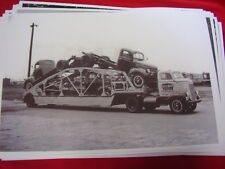 1946 NEW DODGE TRUCKS ON DODGE CAR CARRIER   BIG 11 X 17  PHOTO   PICTURE