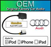 Audi Q7 iPhone 7 lead cable, Audi AMI lightning adapter, iPod iPad GENUINE AUDI