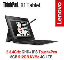 ThinkPad X1 Tablet Gen 3 i5 3.4GHz QHD+ Touch+Pen 8GB 512GB 4G OS+ADP Warranty
