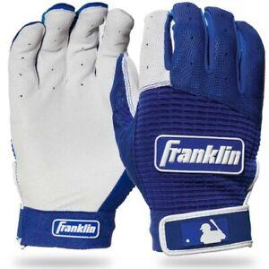 Franklin Sports Pro Classic Batting Gloves Medium - Royal/Pearl - 20969F2