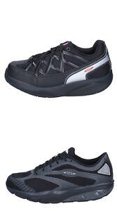 MBT Dynamic scarpe donna sneakers nero pelle e tessuto
