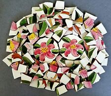 "Vintage Stangl ""Prelude"" Pink Lilies Mosaic Tiles + 2 Focals"