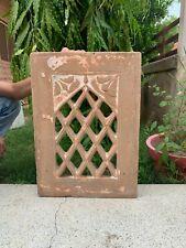 Vintage Rare Stone Hand Carved Mughal Rare Jharokha Jali Cut Wall Panel Window