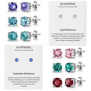 Birthstone Earrings Created with Crystals from Swarovski® by Philip Jones
