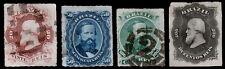 Brazil Scott 62-63, 65-66 (1876-77) Used H G-F, CV $49.25 B