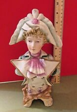BEAUTIFUL VINTAGE FRENCH BISQUE CONTINENTAL BUST 19TH CENTURY